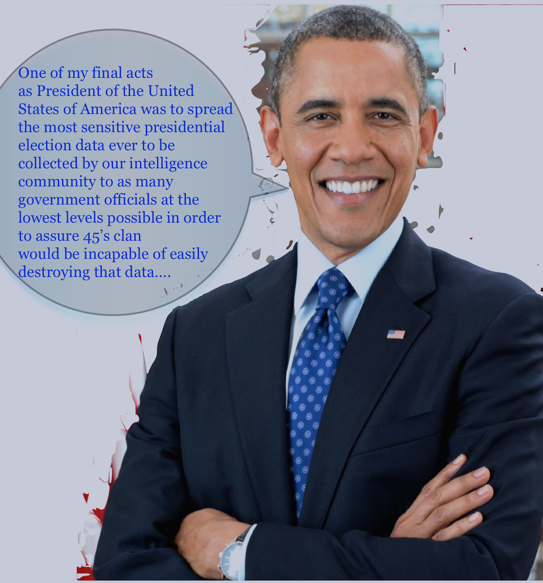 President Obama talk bubble statement.